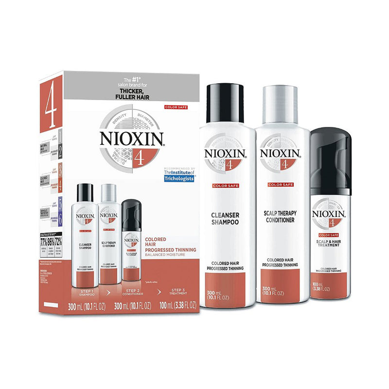 Nioxin Hair Care Kit System 4, Color Treated Hair with Progressed Thinning