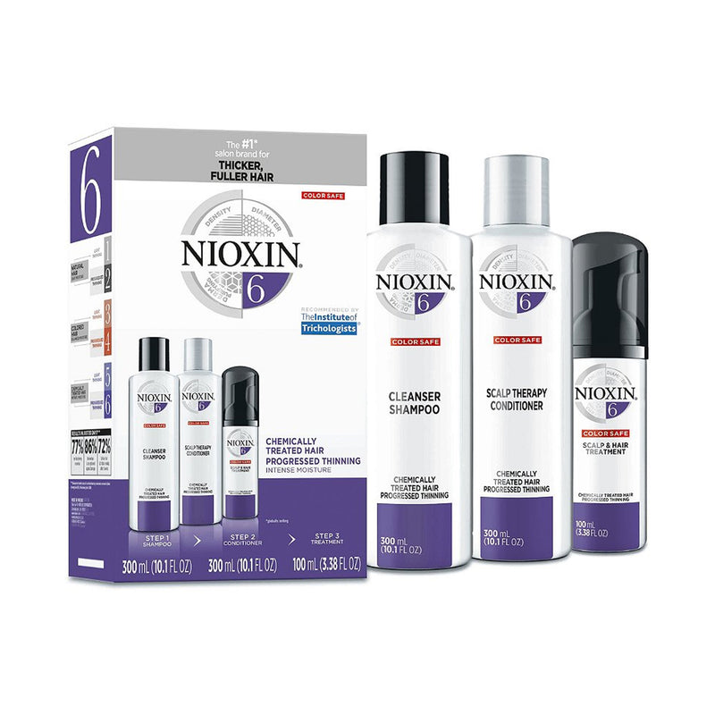 Nioxin Hair Care Kit System 6, Chemically Treated Hair with Progressed Thinning