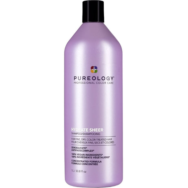 PUREOLOGY HYDRATE SHEER 1L SHAMPOO FOR FINE HAIR