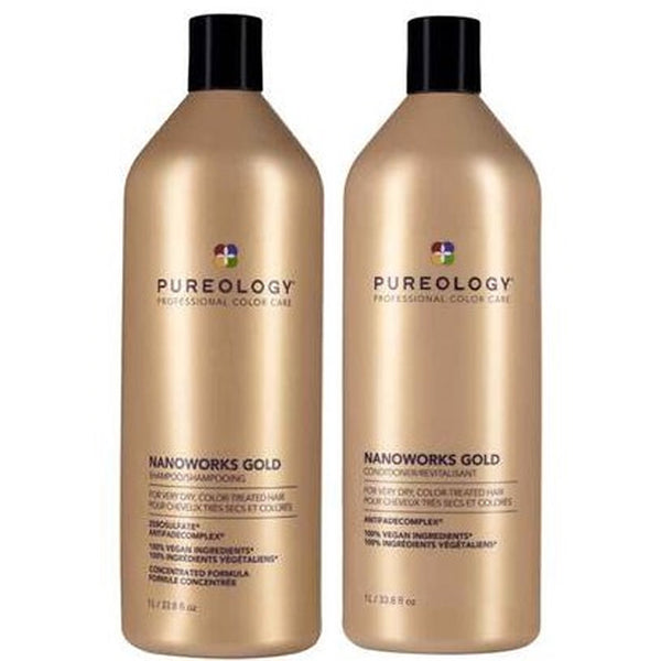 Pureology Nanoworks Gold 1L Set