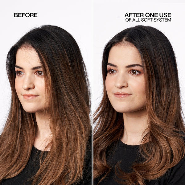 REDKEN ALL SOFT BEFORE AFTER