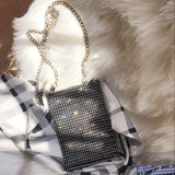 jeweled crystal crossbody