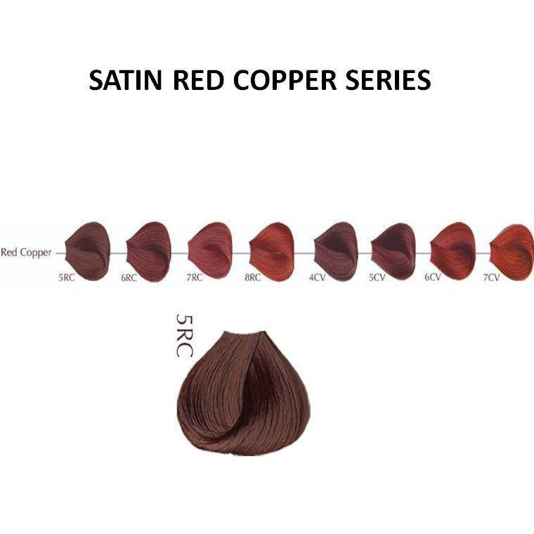 SATIN HAIR COLOR RED COPPER