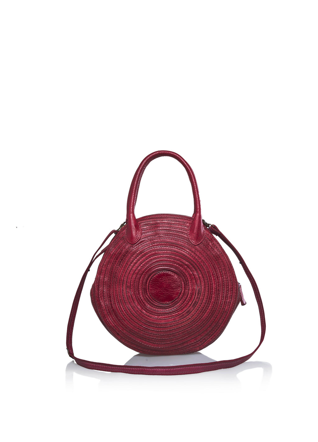 Bohk 465, shoulder bag - pelle di vitello, fodera in cotone, due tasche interne e chiusura con zip - vista frontale
