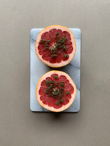 Homemade mint sugar with grapefruit -delicious:)
