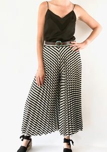 Tensione in Bianca Pleated Culottes