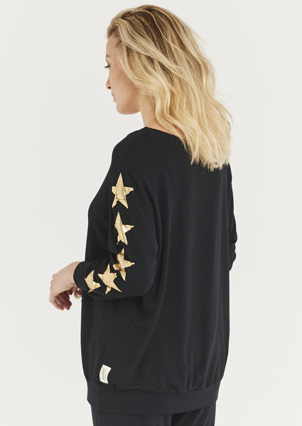Gold Five Star Sweatshirt