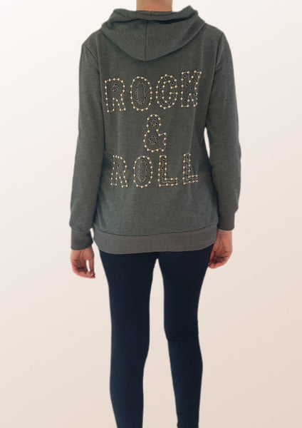 Studded Rock & Roll Hoodie