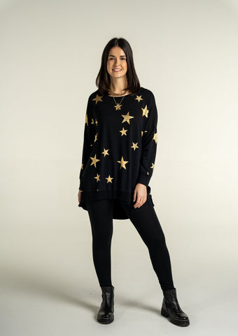 Stephie Gold Star Oversized Sweat