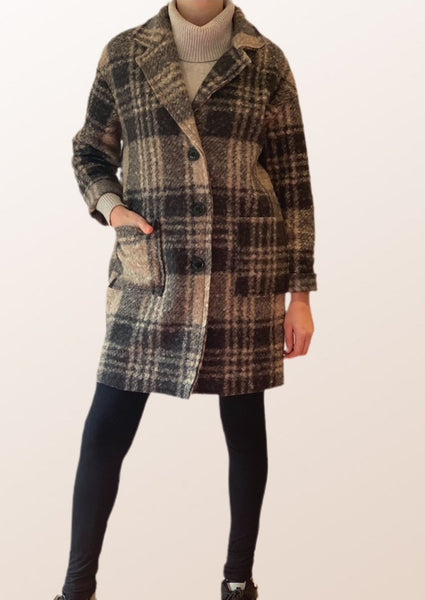 Margot Checked Coat