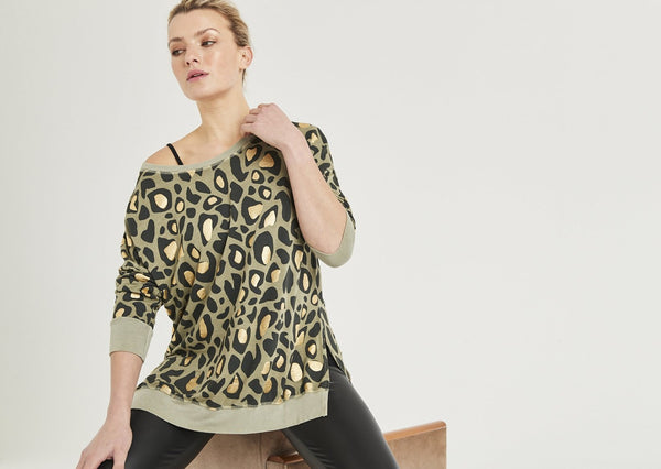 Gigi Animal Print Longline Sweat