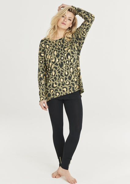 Gwen Animal Print Long Sleeve Top