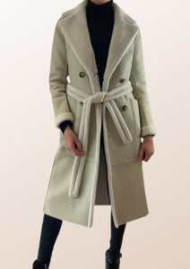 Pita Reversible Faux Leather/Fur Coat