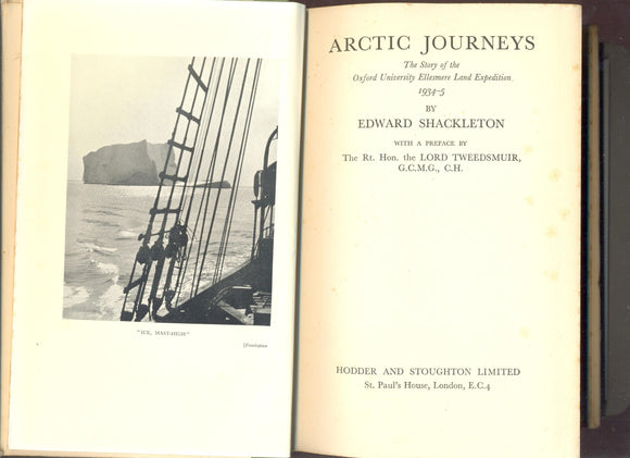 Arctic Journeys: The Story of the Oxford University Ellesmere Land Expedition 1934-5 by Edward Shackleton FIRST EDITION