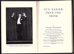 It's Easier than You Think by Geoffrey Buckingham FIRST EDITION