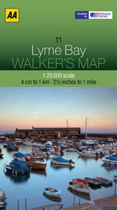 Walkers Map Lyme Bay [Folded Map] - The Real Book Shop