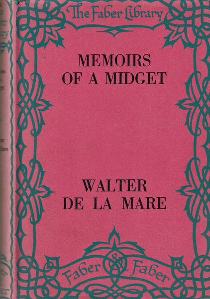 Memoirs of a Midget Walter de la Mare FIRST EDITION