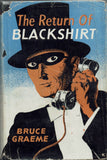 The Return of Blackshirt by Bruce Graeme