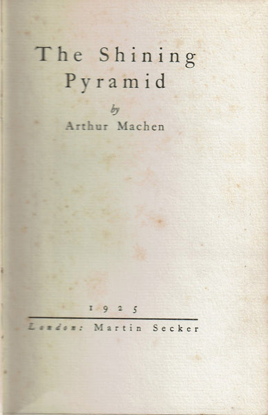 The Shining Pyramid by Arthur Machen FIRST EDITION thus