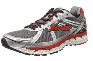 Brooks Men's Defyance (D Width) Charcoal/Silver/Red