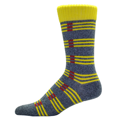 Simcan Colour Series Socks - Yellow/Red Stripes