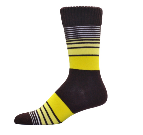 Simcan Colour Series Socks - Brown/Yellow Stripes