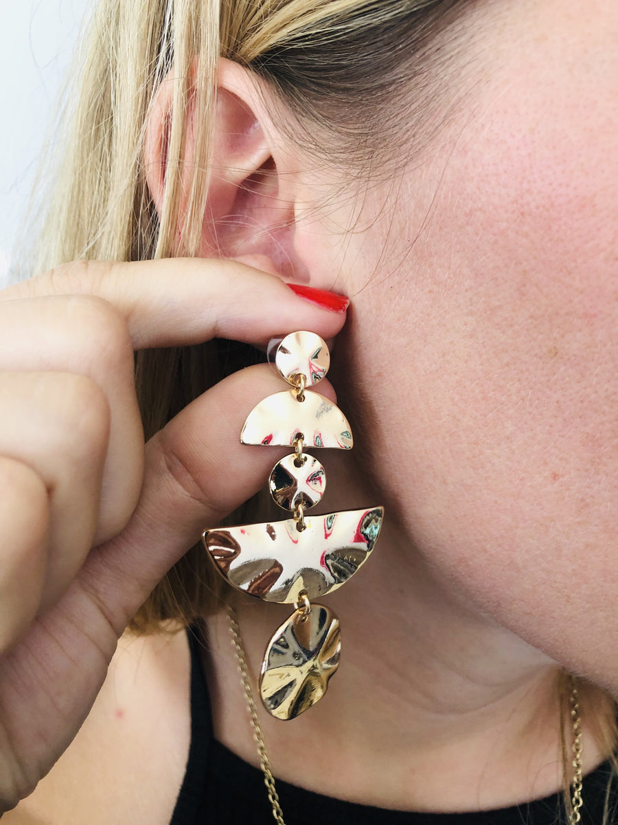 Trickle Down Mini Statement Earrings