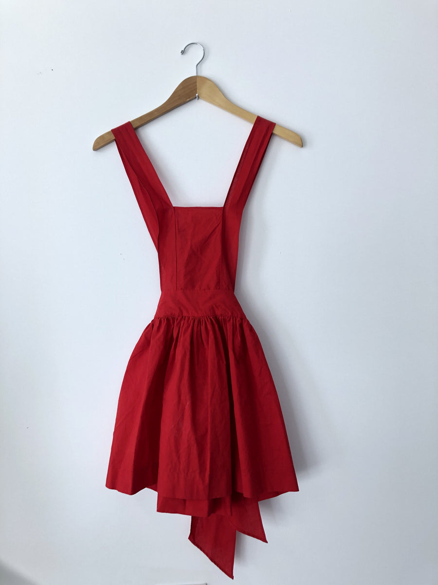 1950s Vintage Criss Cross Apron Dress