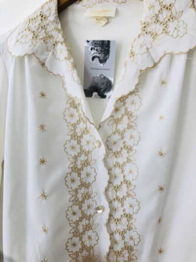 1970s Embroidered Front Blouse