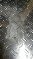 "ALUMINUM DIAMOND PLATE 303-H22 .063"" x 4"" x 72"" - SECOND CHOICE QUALITY"