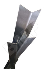 "304 STAINLESS STEEL CORNER GUARD ANGLE 3/4""x3/4""x48"" 0600112"