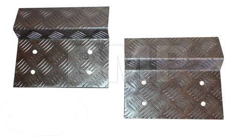 DIAMOND PLATE ALUMINIUM LOADING RAMP KIT