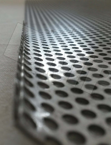 "304 STAINLESS STEEL PERFORATED SHEET .040"" x 12"" x 24"" - SECOND CHOICE QUALITY-0600102"