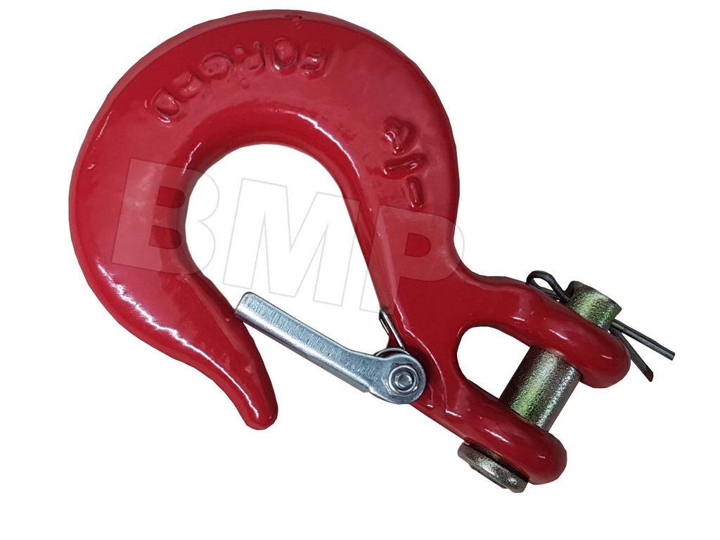 "1/4"" SLIP HOOK WITH SAFETY CLIP"
