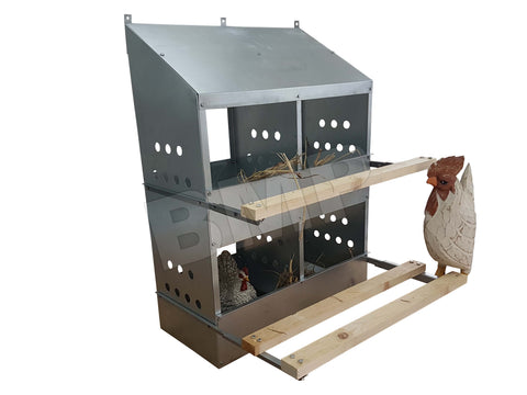 4 HOLE CHICKEN NESTIN BOX