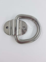"3/8"" STAINLESS STEEL D RING WITH BOLT ON BRACKET 1000206"