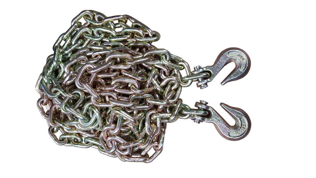 "20 ft Tow Chain with two 5/16"" Hooks"
