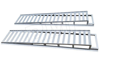 HEAVY DUTY RACE CAR AUTO VEHICLE RAMPS ENLOSED TRAILER EXTENSION RAMPS- HOT DIPPED GALVANIZED
