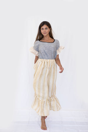 Nina Leuca linen (top & skirt)