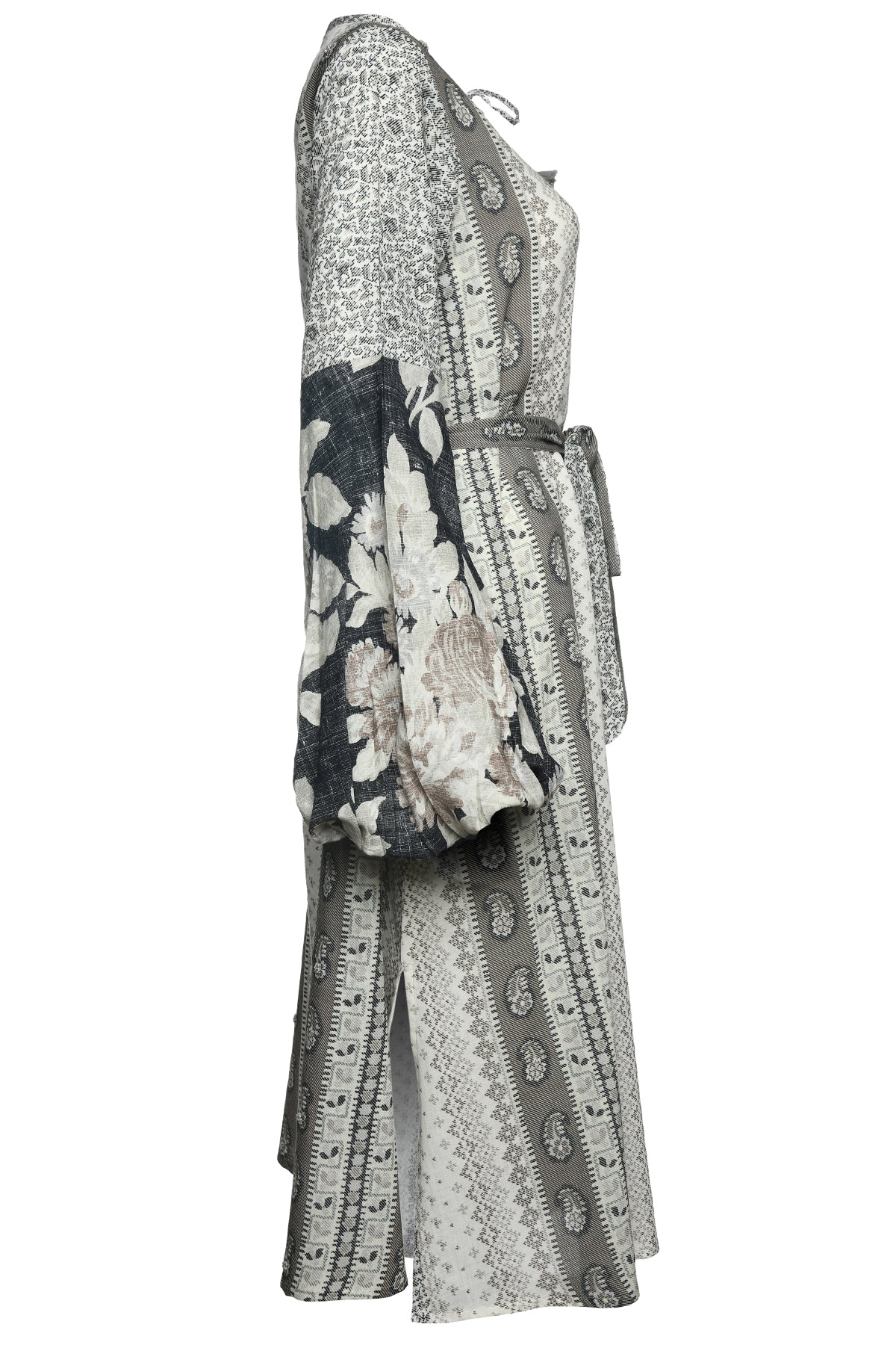 Tatiana Maxi Dress - Black / Grey
