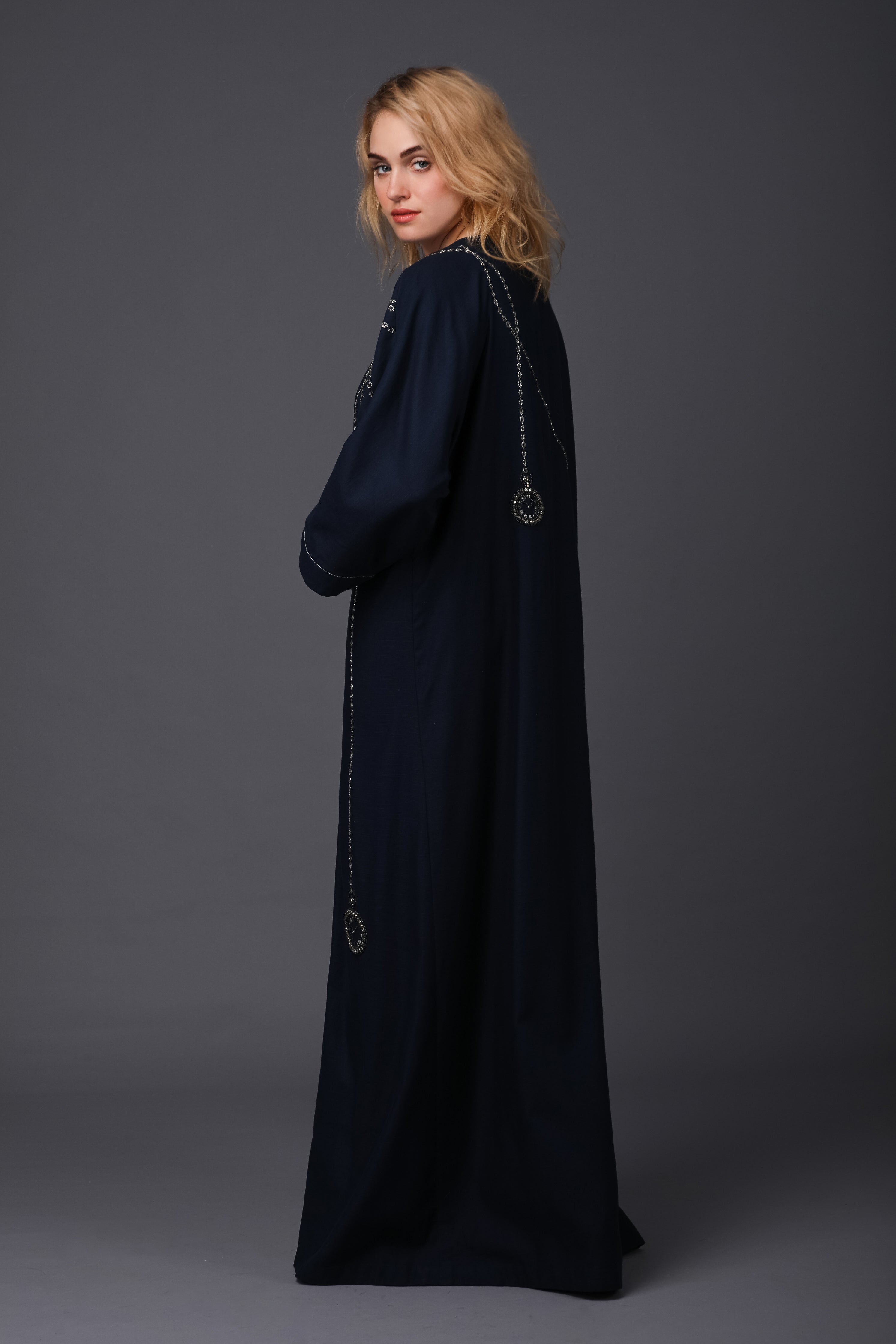 Pocket Watches Shrug Abaya (Navy)