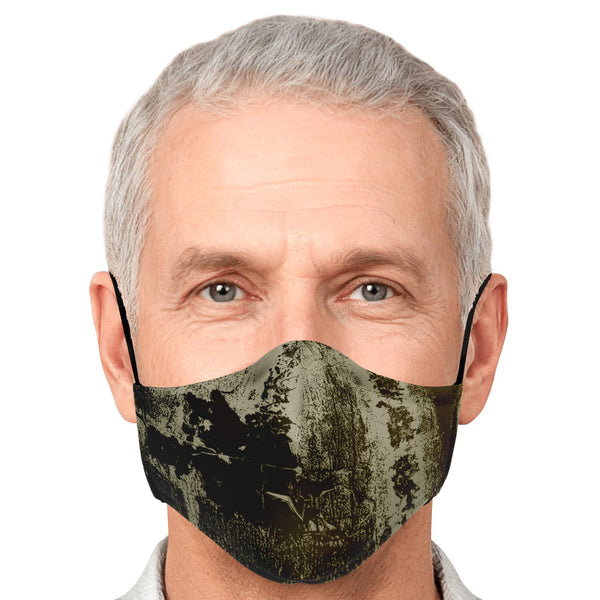 Male Face mask w/ filter pocket and adjustable ear straps