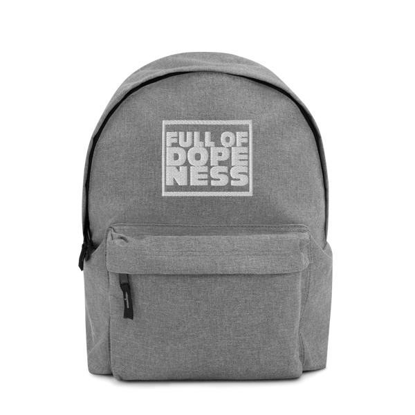 """Full of Dopeness"" Embroidered Back Pack"
