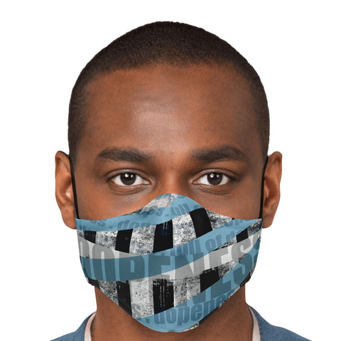 Shades of Blue Dopeness Face Mask w/filter pocket and adjustable ear straps