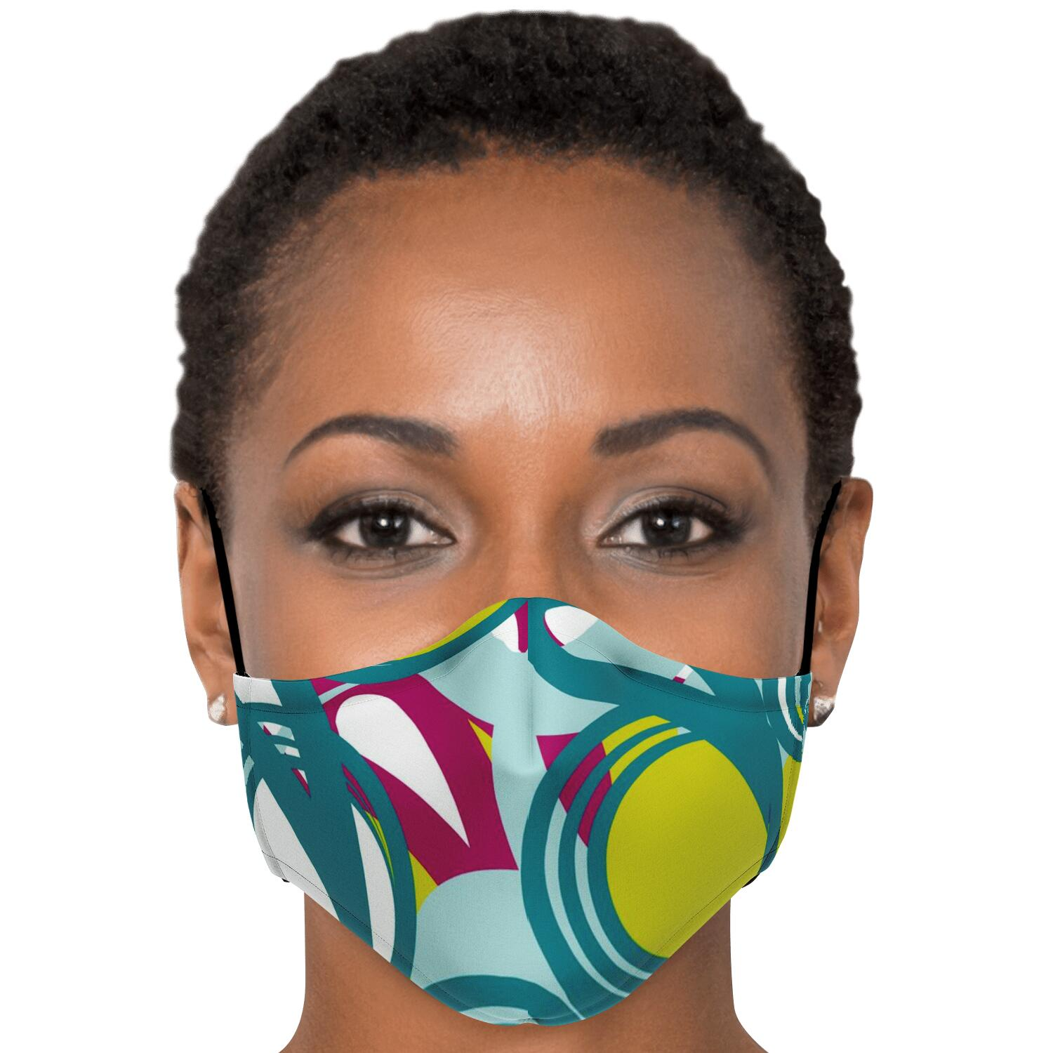 Colorful Face Mask w/ inside filter pocket and adjustable ear straps