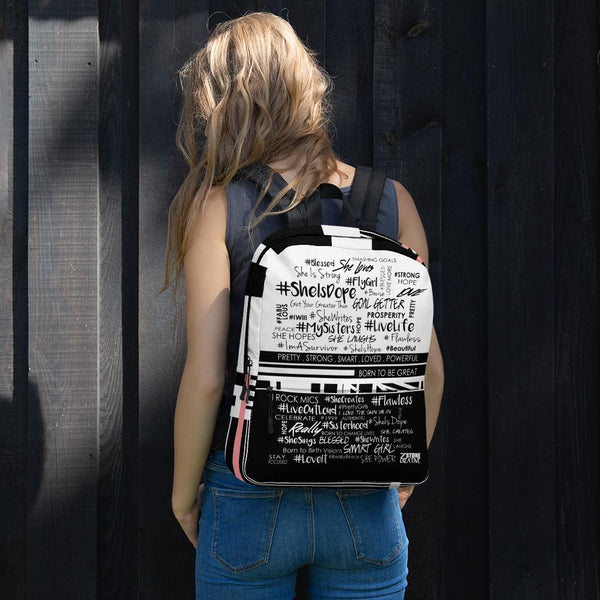 #SheHashtag Backpack Black & White