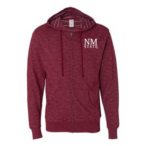 NMSU Baja Stripe French Terry Full-Zip Hooded Sweatshirt
