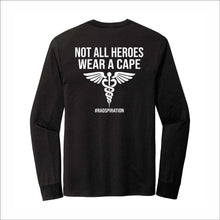Load image into Gallery viewer, Not All Villains/Heroes Tri-Blend Long-Sleeve Tee