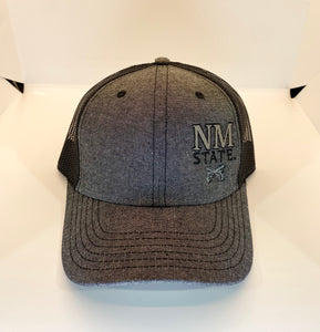 NM State Crossed Guns Midnight Trucker Mesh Hat
