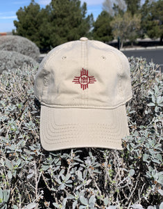 NM State Zia Adjustable Dad Cap
